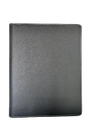 Black Leather Handle Conference Folder