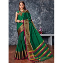 Dark Green Party Wear Saree