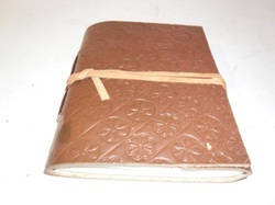 Brown Embossed Handmade Leather Journal