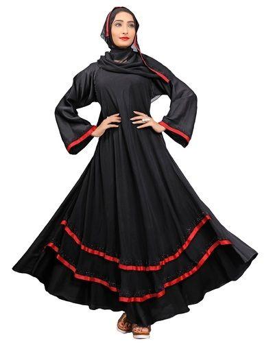 Saudi Arabia Stylish High Quality Nida Abaya Burkha