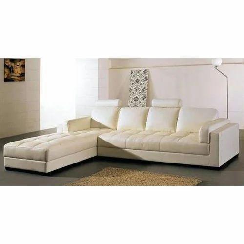 White L Shape Sofa Set