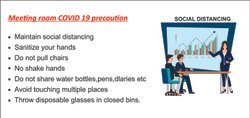 Covid-19 Social Distancing Precaution Poster