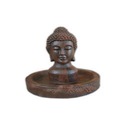 Wooden Effect Buddha Fountain Sculpture