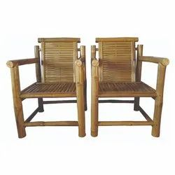 Antique Bamboo Sleek Chair, Size/Dimension: H 42 X W 23 X L 23 In Inches, for Home