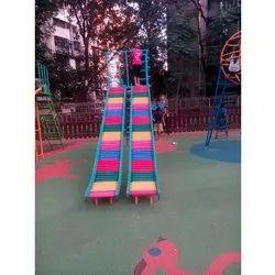 SL 11 Double Roller Playground Slide