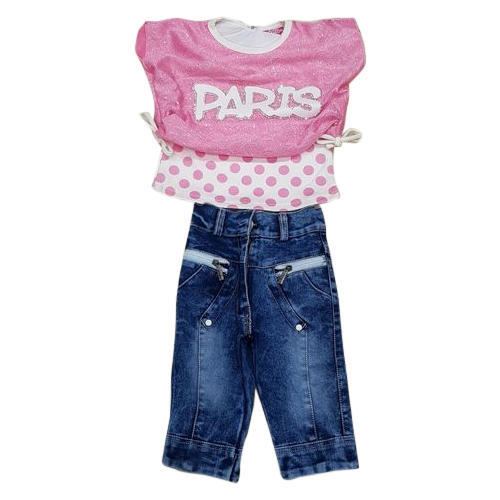 4fbd88308 Party Wear Printed Kids Designer Top With Jeans, Rs 260 /piece | ID ...