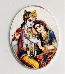 Radha Krishna Color Silver Coin 10 gm.