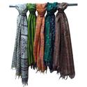 Handmade Kantha Silk Scarfs