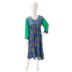 Small Stitched Full Sleeve A Shape Kurti