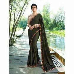 Pransul Fashion Digital Printed Ladies Indian Saree, Blouse Size: 0.80 Mtr, Machine Made