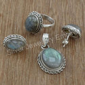Sterling Silver Nice Labradorite Gemstone Jewelry Unique Set