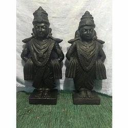 Black Marble Statue
