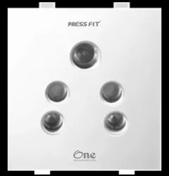 Press Fit - One 6 Amp. 2-in-1 Socket