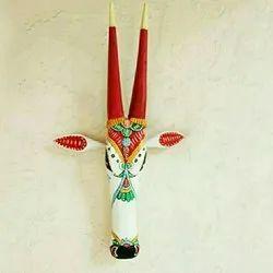 Multicolor Wooden Nandi, Size/dimension: 18 Inch