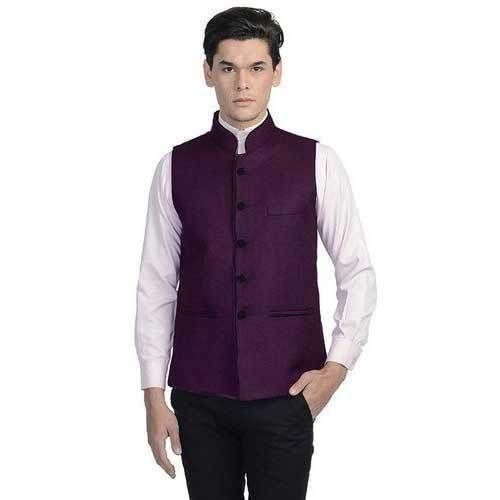 813fa19d4 Men s Nehru   Modi Jacket - Dark Purple Colour at Rs 369  piece ...