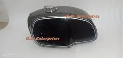 Bmw R100 Rt Rs R90 R80 R75 Black & Gray Painted Steel Petrol Tank With Monza Cap