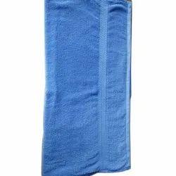 Plain Blue Cotton Towel, GSM: 450-550