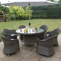 Garden Rattan Table Set