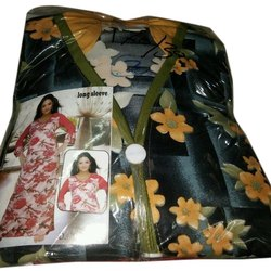 Stitched Printed Ladies Cotton Nightgown