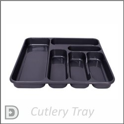 Black Plastic Cutlery Tray, For Restaurant
