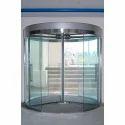 Transparent Corporate Revolving Glass Door, For Office