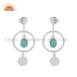 Arizona Turquoise 925 Sterling Fine Silver Dangle Earrings