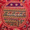 Round Ottoman Pouf Floor Cushion Cover