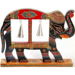 Tradtional Printed Wooden Elephant Show Piece, For Decoration