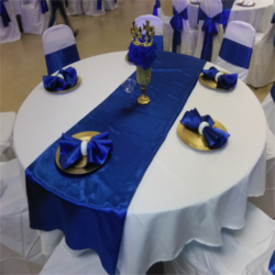 White And Blue Table Runner