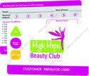 Multicolor Rectangular Pre-printed Health Card