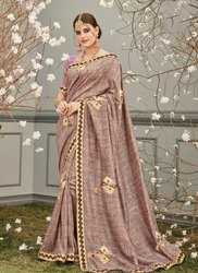 Fancy Printed Silk Party Wear Sarees