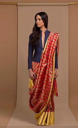 8ae3b7e3114ca Classic Jacket Blouse With Kanjivaram Saree - Raisons
