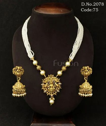 Traditional Antique Designer Temple Necklace Set
