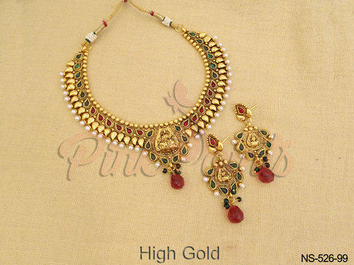 2f0bfa9249b45 Necklace Set - Moti Balls Drop Antique Necklace Set Ecommerce Shop ...