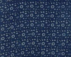 Indian Floral Indigo Blue Print Cotton Dabu Batik Fabric