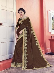 Fancy Knitting Material Saree