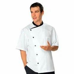 Cotton Unisex White Chef Uniform Coat