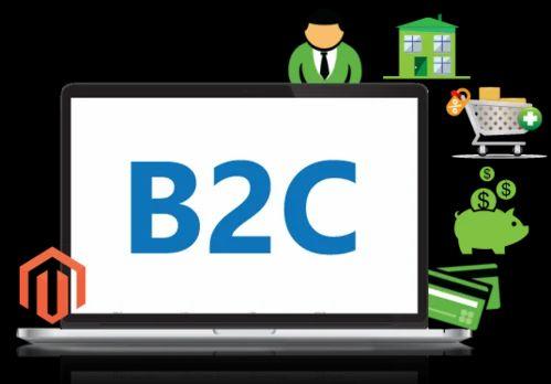 render infotech,b2c ecommerce service, logo