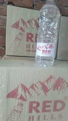 Plastic Red Hills Mineral Water, Capacity: 1ltr