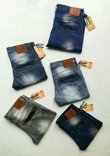 Slim Fit Casual Wear Kites Faded Mens Denim Jeans