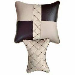 Leather Brown,beige Car Seat Cushion Kit