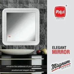 Italmek White High Gloss Plastic Frame with Mirror