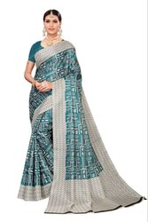 6.3 m (with blouse piece) Archit enterprise Khadi Saree