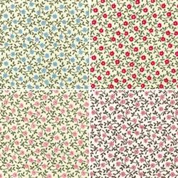 Organic Cotton Poplin Flower Printed Fabric