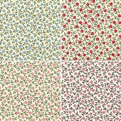 Organic Cotton Poplin Flower Printed Fabric