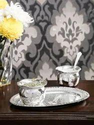 Decorative Brass Handi Set For Wedding Gifts