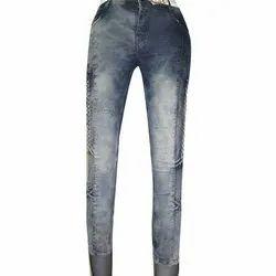Button And Zipper Ladies Skinny Denim Jeans, Waist Size: 28-32 Inch
