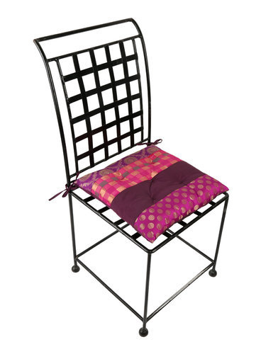 Brocade And Polydupion Polka Dot Chair Seat Pads