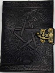 Leather Celtic Pentagram Journal