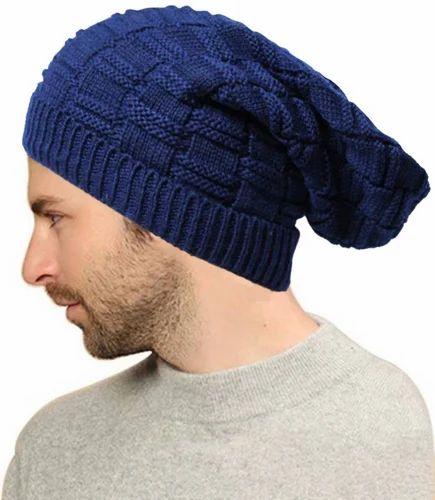 d3a50627648 Woolen Blue Beanie Cap